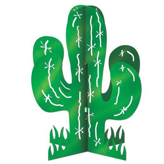 Western Decorations 3-D Cactus Centerpiece Image