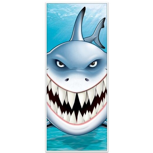 Luau Decorations Shark Door Cover Image