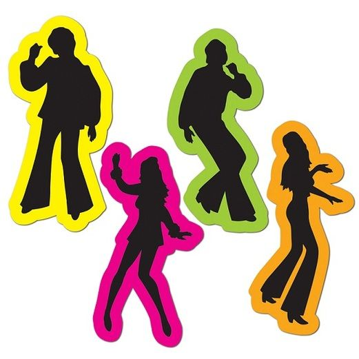 60s & 70s Decorations Retro 70's Silhouettes Image