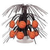 Sports Decorations Mini Basketball Cascade Centerpiece Image