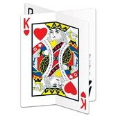 Casino Decorations 3-D Playing Card Centerpiece Image