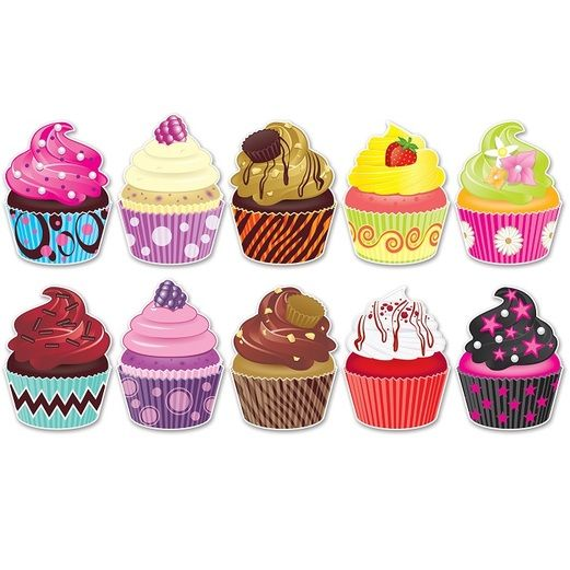 Birthday Party Decorations Mini Cupcake Cutouts Image