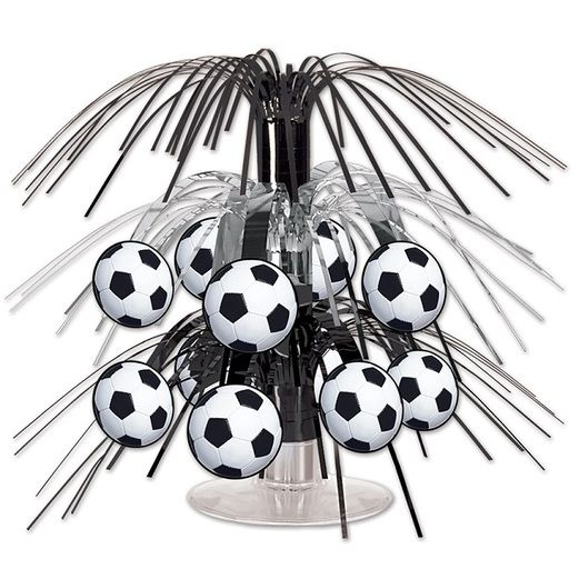 Sports Mini Soccer Ball Cascade Centerpiece Image