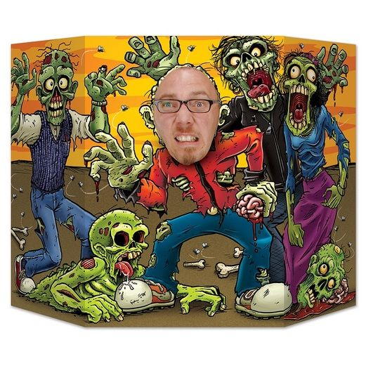 Halloween Decorations Zombie Photo Prop Image