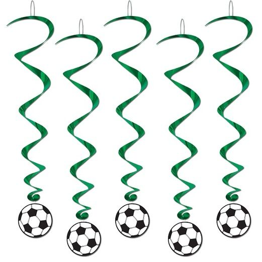 Sports Decorations Soccer Ball Whirls Image