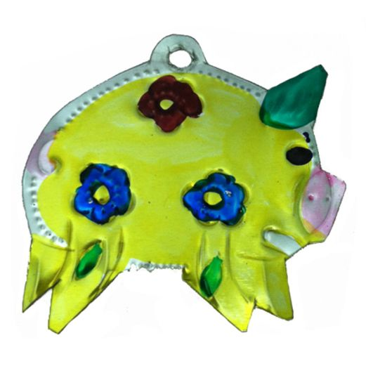 Decorations Pig Tin Ornament Image