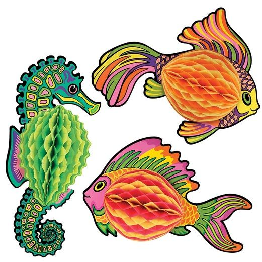 Luau Decorations Tissue Fish Image
