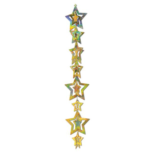 New Years Decorations Gold Star Gleam Garland Image