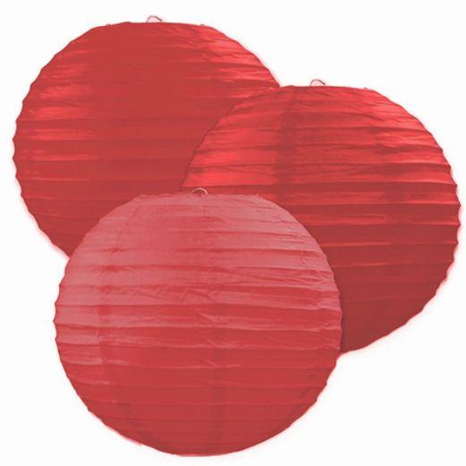 Valentine's Day Decorations Red Paper Lanterns Image