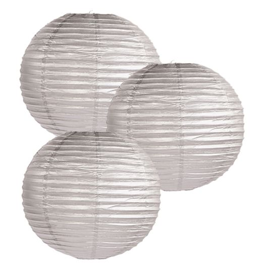 Anniversary Decorations Silver Paper Lanterns Image