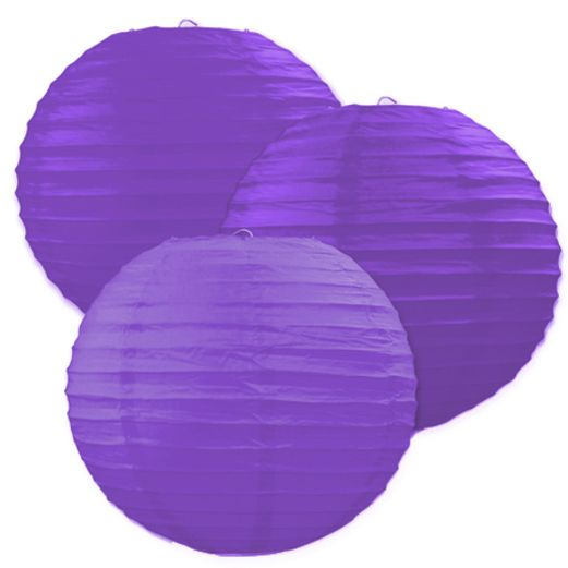 Mardi Gras Decorations Purple Paper Lanterns Image