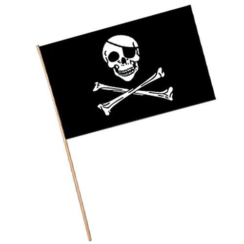"11""x17"" Pirate Plastic Flags"