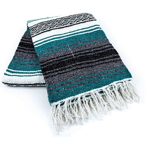 Teal Mexican Blanket