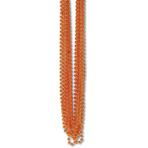 Orange Metallic Bead Necklaces