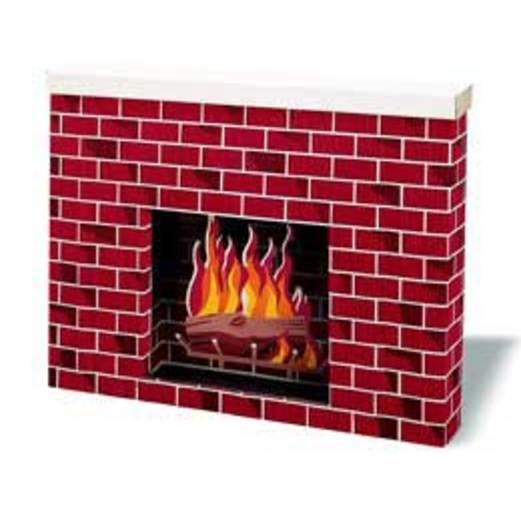 Christmas Decorations Corobuff Brick Fireplace Image