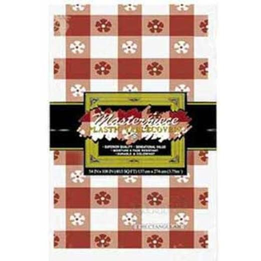 Western Table Accessories Rectangular Table Cover Red Gingham Image