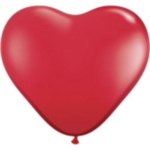 "Valentine's Day Balloons 6"" Red Heart Balloons Image"