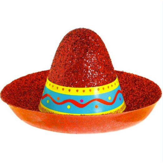 Sombrero Mini Glitter Hat