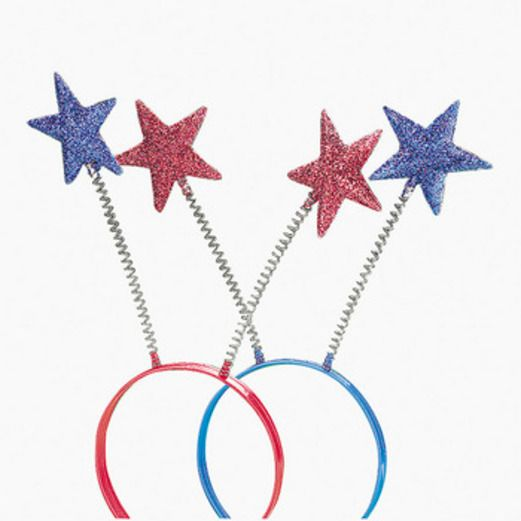4th of July Favors & Prizes Red and Blue Star Boppers Image