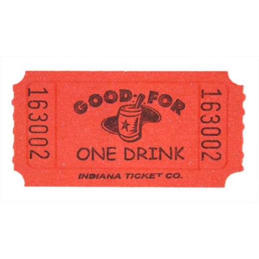 Tickets & Wristbands Red Drink Ticket Roll Image