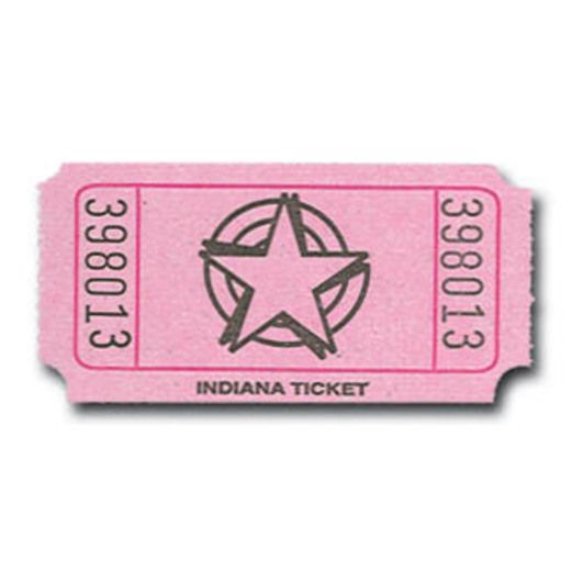 Tickets & Wristbands Pink Star Ticket Roll Image