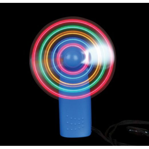 Birthday Party Glow Lights L.E.D. Fan Necklace Image