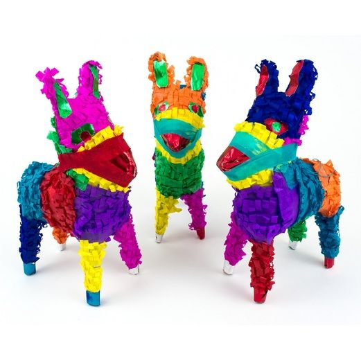 Fiesta Decorations Mini Donkey Pinata Image