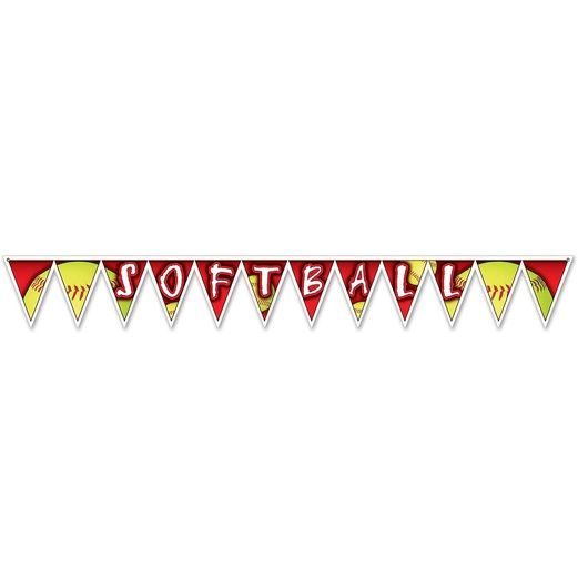 Sports Decorations Softball Pennant Banner Image