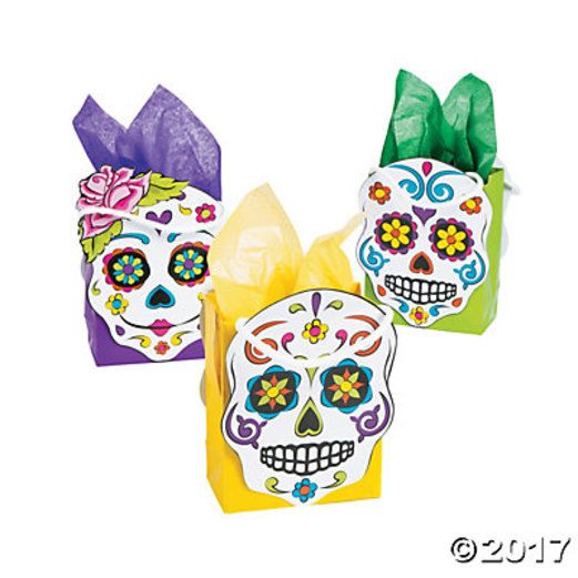 Day of the Dead Gift Bags & Paper Day of the Dead Gift Bags Image