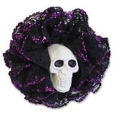 Day of the Dead Party Wear Skull Hair Clip Image