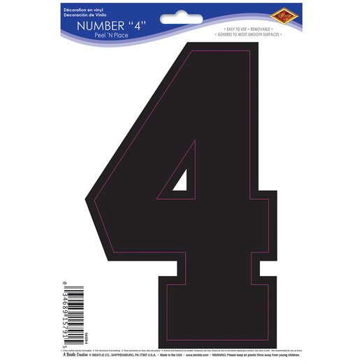Sports Number 4 Peel n Place Image