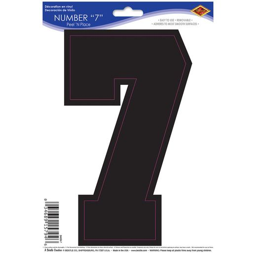 Sports Number 7 Peel n Place Image