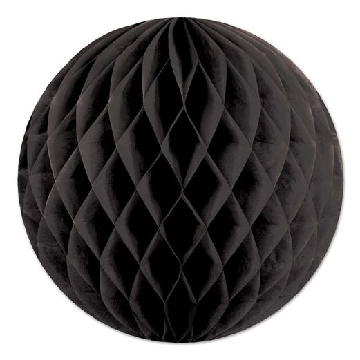 "Fifties Decorations 12"" Black Tissue Ball Image"