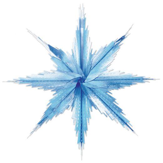 Christmas Decorations 2-Tone Metallic Snowflakes Image