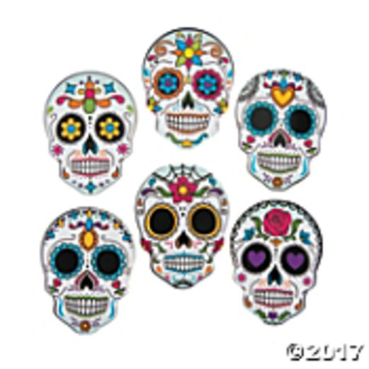 Day of the Dead Decorations Day of the Dead Mini Skull Cutouts Image