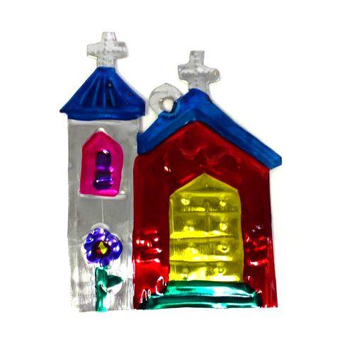 Chapel Tin Ornament