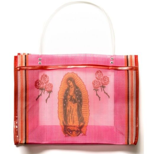 Cinco de Mayo Decorations Virgen de Guadalupe Square Mesh Bag Image