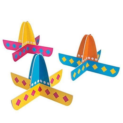 Fiesta Decorations Foam Sombrero Centerpieces Image