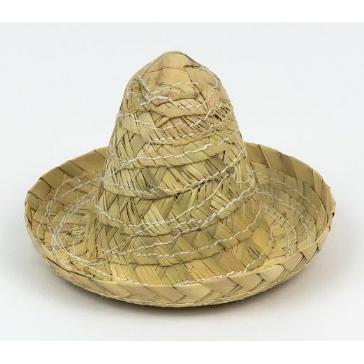 Fiesta Decorations Mini Straw Zapata Sombrero Image