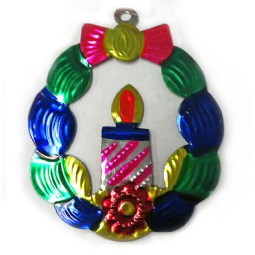 Christmas Decorations Wreath Tin Ornament Image