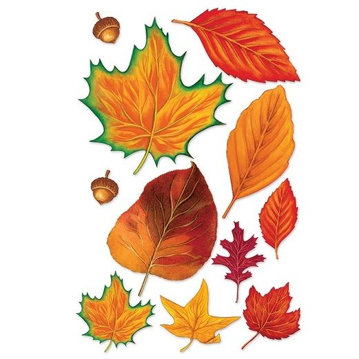 Fall Leaves with Acorns