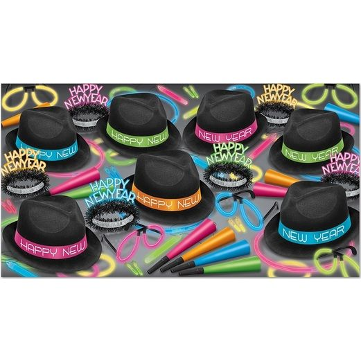 New Years Party Kits Neon Glow Chairman for 50 Image