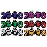 New Years Party Wear 2018 Plastic Glittered Glasses Image