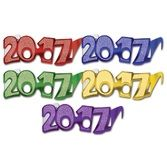 Graduation Party Wear 2017 Glittered Glasses (50 Pk) Image
