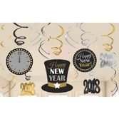 New Years Decorations 2018 New Year's Swirl Decorations Value Pack Image