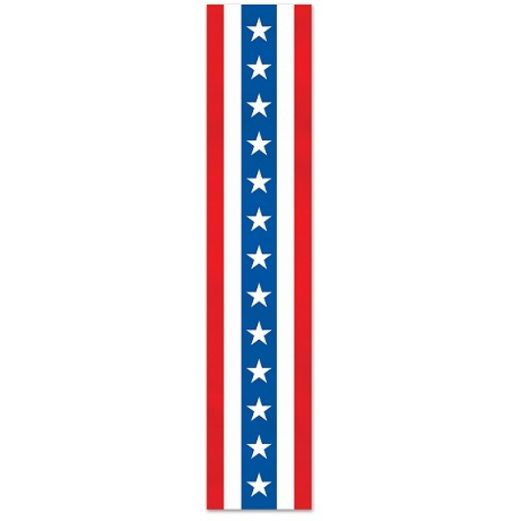 Patriotic Fabric Column Bunting
