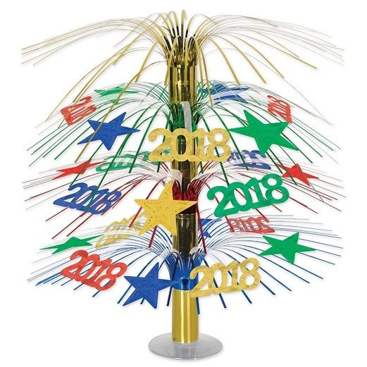 New Years Decorations 2018 Cascade Centerpiece Image