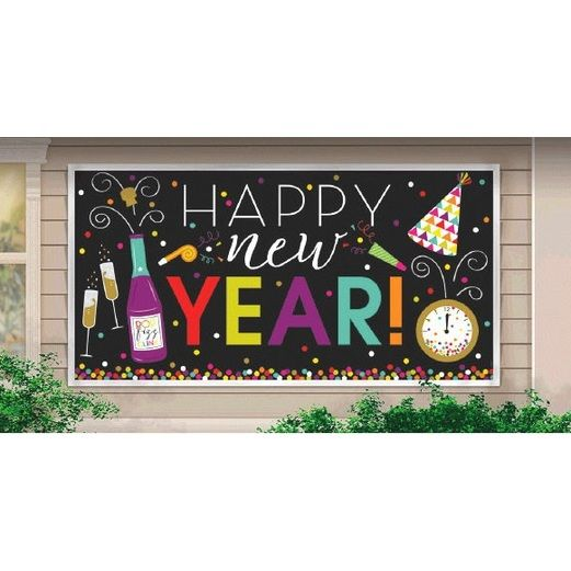 New Years Decorations Large New Year's Banner Image