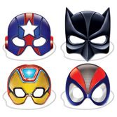 Birthday Party Party Wear Deluxe Hero Masks Image