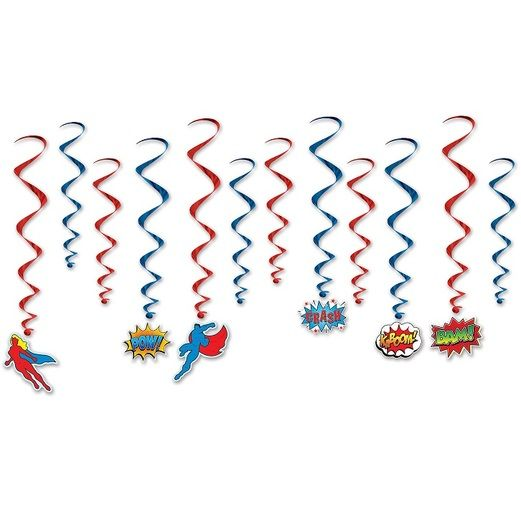 Birthday Party Decorations Hero Whirls Image